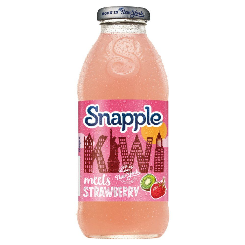Snapple Kiwi & Strawberry 473ml Glass Bottle (UK)